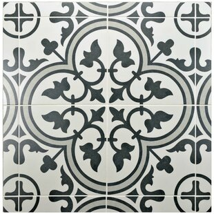 Artea 9 75 X Porcelain Field Tile In Dark Gray White