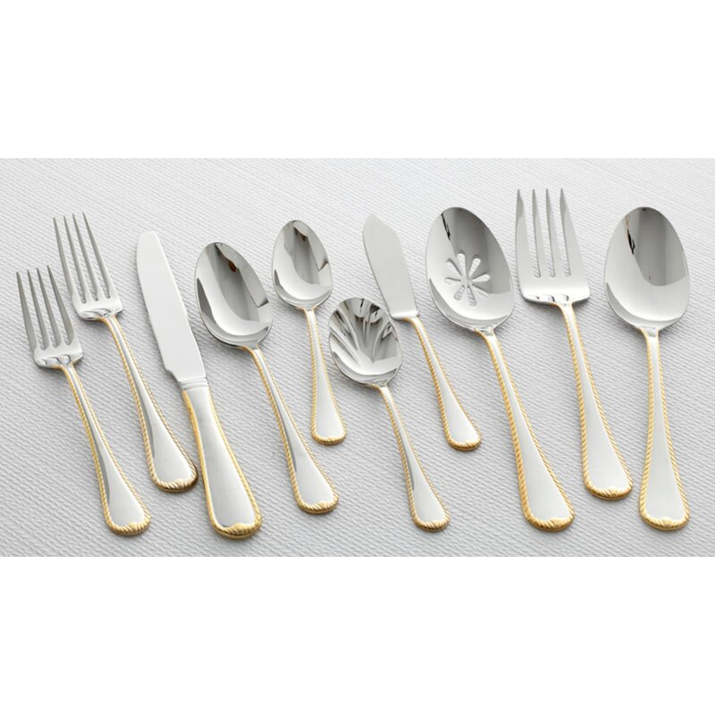 Mikasa Cameo 65 Piece 1810 Stainless Steel Flatware Set Service