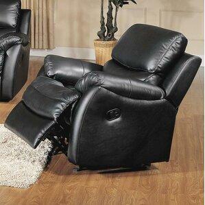 brett top grain leather rocker recliner - Leather Rocker Recliner