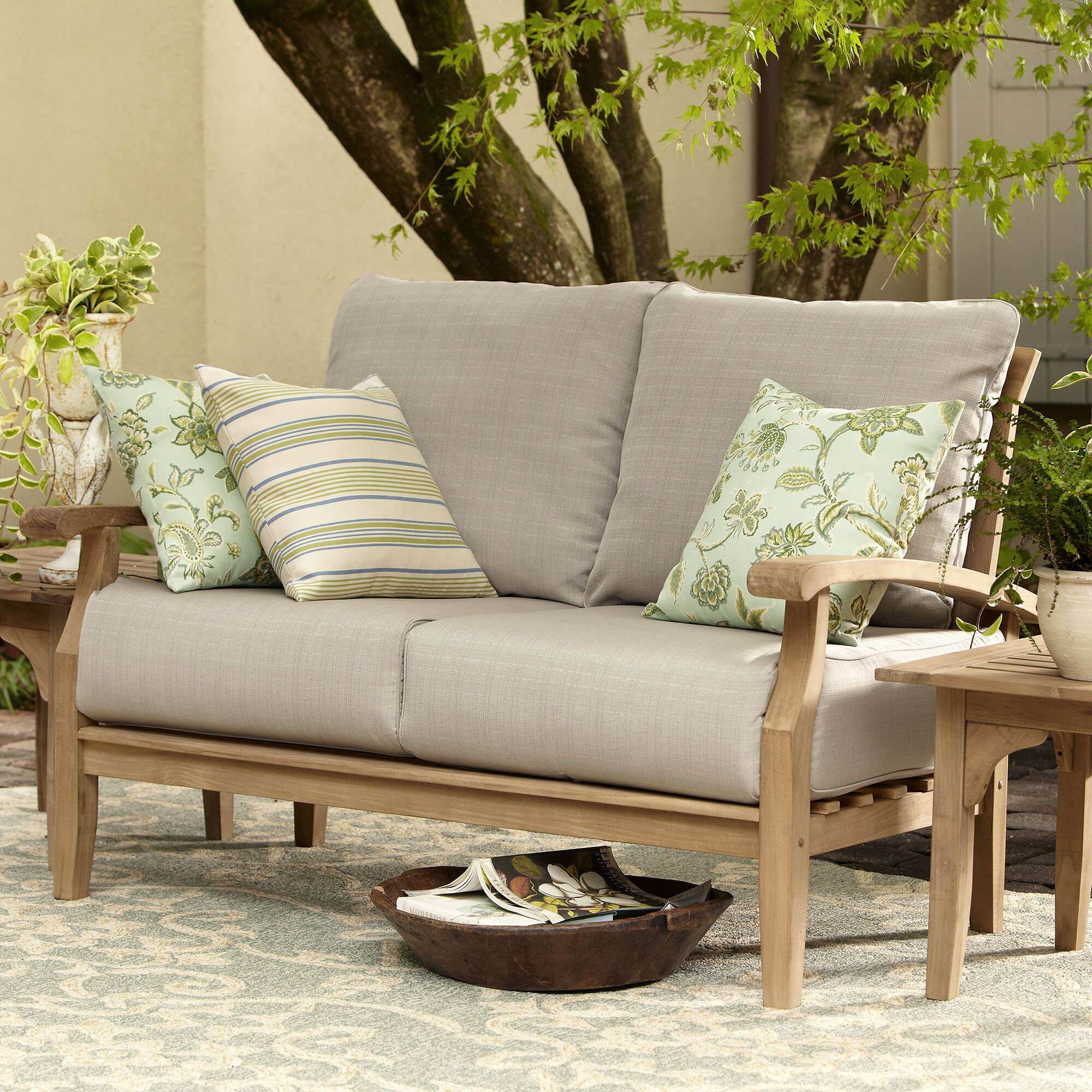 with by puerta christopher home product free today wicker knight garden overstock cushion shipping outdoor loveseat
