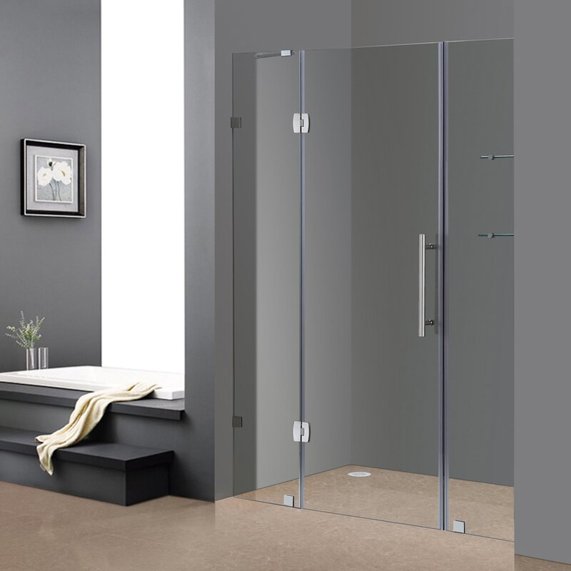 Aston Soleil 60 Quot X 75 Quot Hinged Completely Frameless Shower