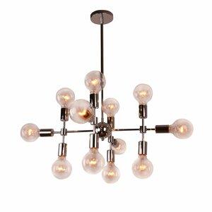 Modern sloped ceiling adaptable chandeliers allmodern modern metal geometric 12 light sputnik chandelier mozeypictures Image collections