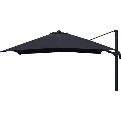 Brayden Studio Grote Liberty Aluminum 10' Square Cantilever Umbrella Fabric Color: Black