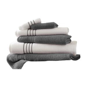 Lar Superior Combed Cotton 6 Piece Striped Towel Set