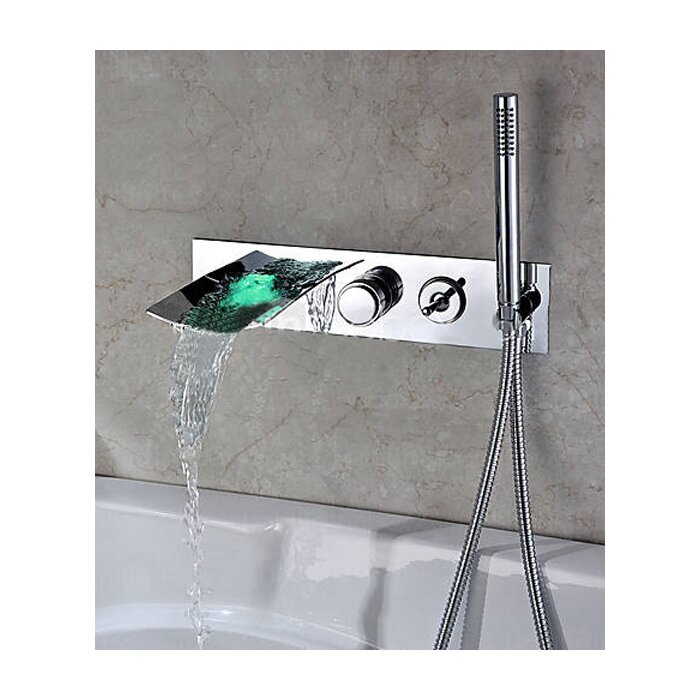 Kokols Single Handle Wall Mount Tub Faucet with Hand Shower ...