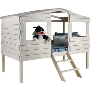 Tree House Twin Low Loft Bed by Donco Kids