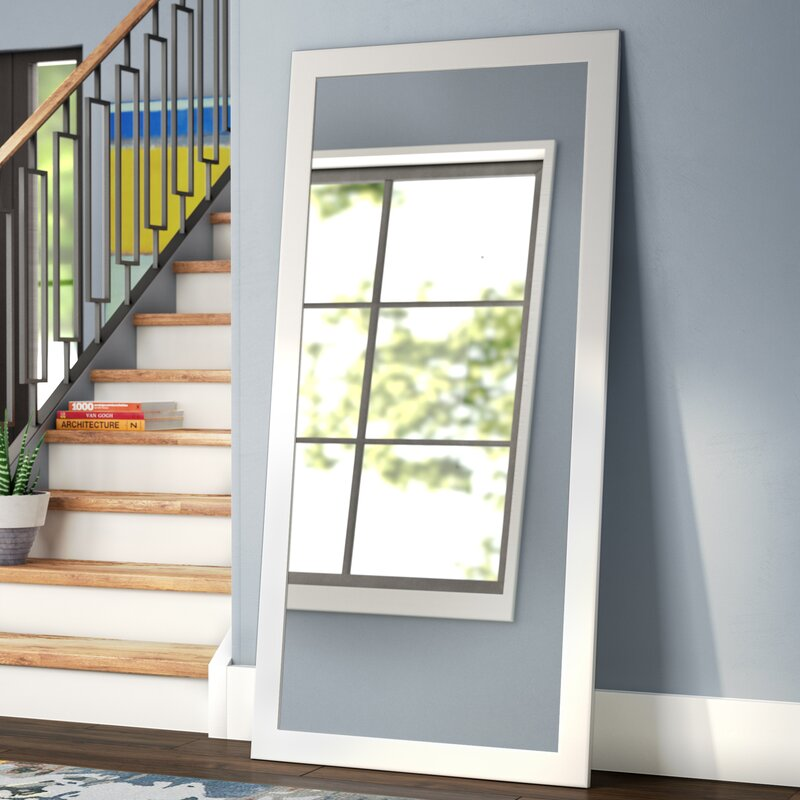 length framed matte mirrors floor the depot modern compressed white n wall decor home full mirror b