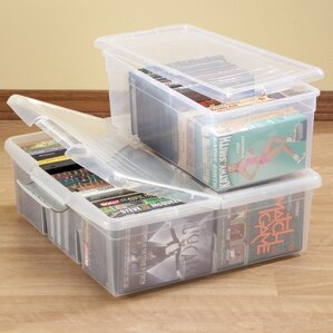 2 Piece Stacking Storage Box Multimedia Set by Miles Kimball