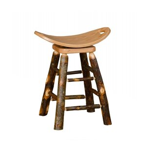 Orrie Hickory 24 Swivel Saddle Stool