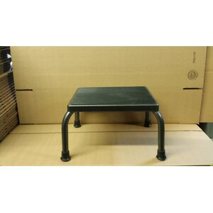 1-Step Steel Standard Step Stool with 350 lb. Load Capacity