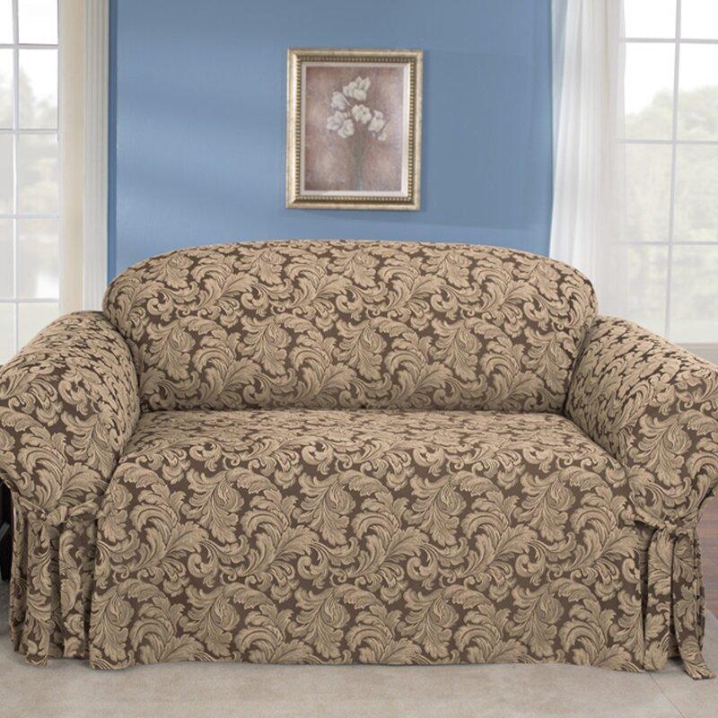 sure fit scroll classic box cushion sofa slipcover reviews wayfair rh wayfair com sure fit sofa covers australia sure fit sofa covers review