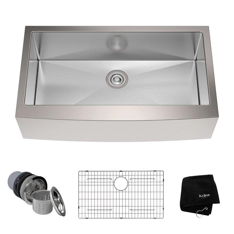 36   x 21   farmhouse kitchen sink with drain assembly 36   x 21   farmhouse kitchen sink with drain assembly  u0026 reviews      rh   allmodern com