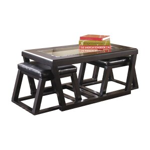 Preston Coffee Table with Nested Stools by Latitude Run