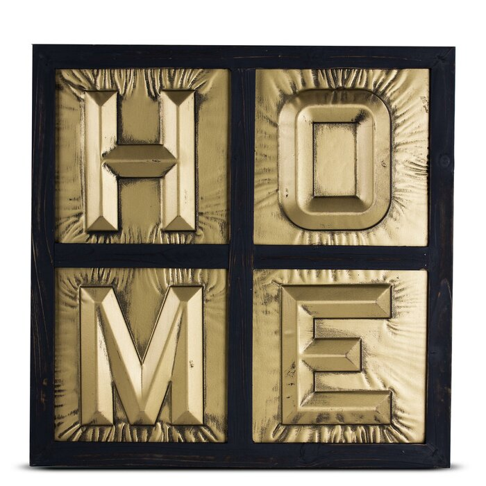 Metal Block Letters Awesome Wrought Studio Home Sign 3D Metal Block Letters Framed Wall Décor 2017