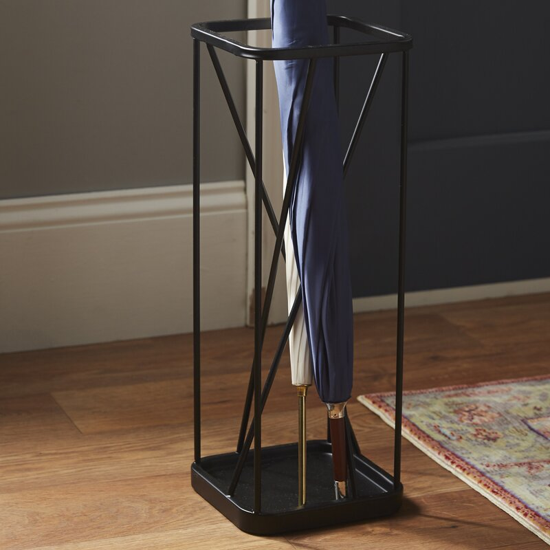 Brass Umbrella Stand Embossed: Rebrilliant Metal Umbrella Stand & Reviews