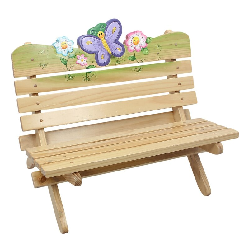 Lovely Magic Garden Outdoor Kids Bench