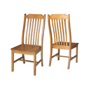 Pleasanton Solid Wood Dining Chair (Set of 2) by Loon Peak