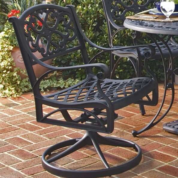 Van Glider Swivel Patio Dining Chair
