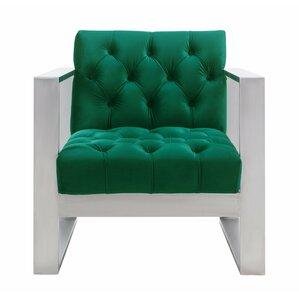 Chevy Velvet Armchair by Willa Arlo Interiors