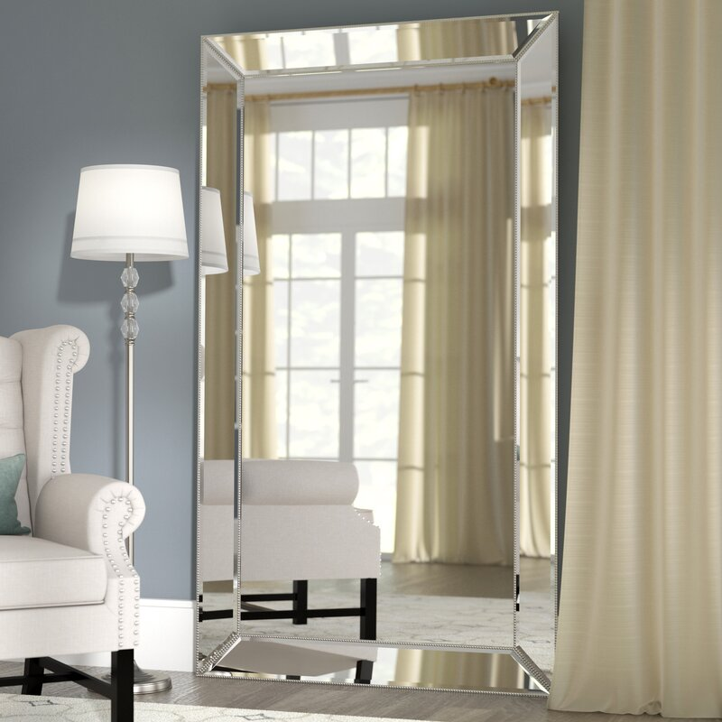 Willa Arlo Interiors Primm Rectangle Antique Floor Mirror & Reviews ...