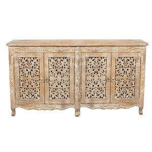 Aveliss White Antique Sideboard by Bungalow Rose