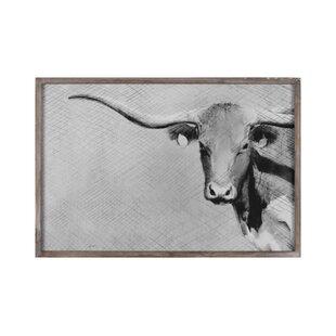0c9394baaf6  Longhorn  Framed Print on Canvas