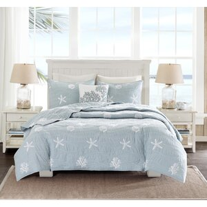 Seaside 4 Piece Queen Coverlet Set