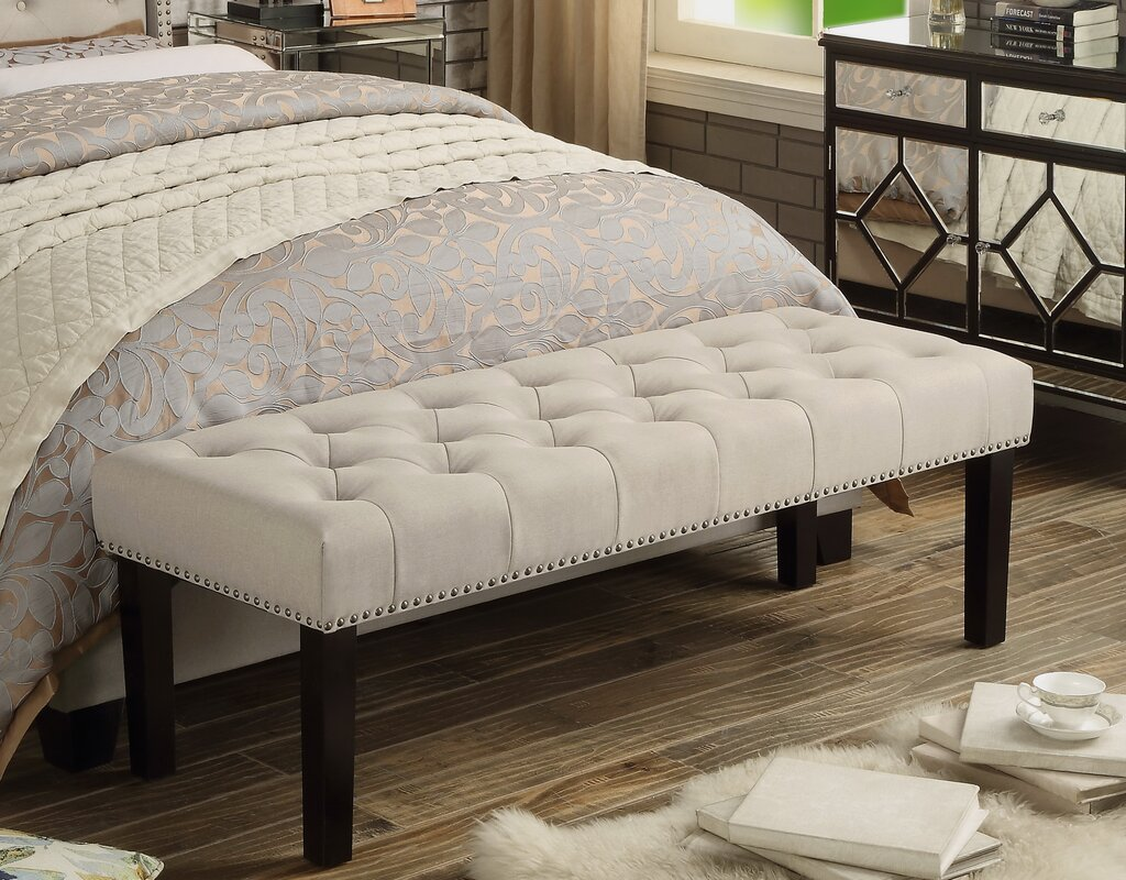 bedroom benches. Eider Upholstered Bench Bedroom Benches You ll Love  Wayfair