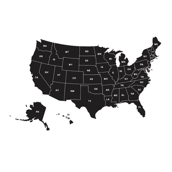 Us Map Decal Globalinterco - Us road map wall decals