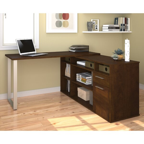 Mercury Row Alves L Shaped Melamine Top Computer Desk