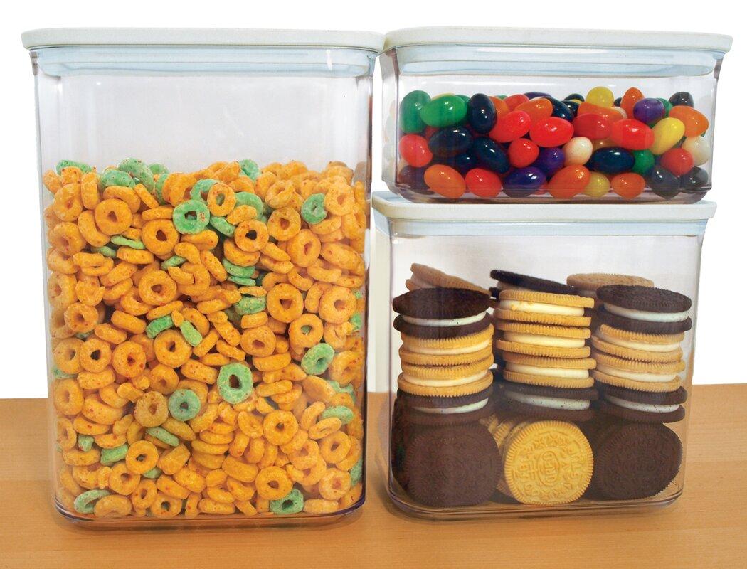 frigidaire 3 piece storage kitchen canister set u0026 reviews wayfair