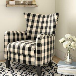 Louna Fabric Armchair & Buffalo Plaid Chair | Wayfair
