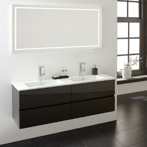 Limited edition 101cm wall mounted vanity unit with mirror
