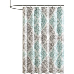 Frederica Shower CurtainFind The Best Shower Curtains   Wayfair. Brown And Turquoise Shower Curtain. Home Design Ideas