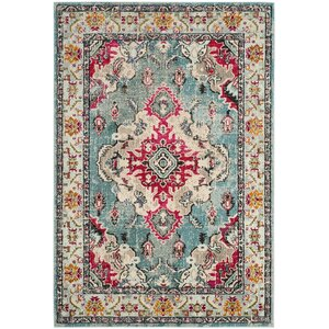 Newburyport Light Blue/Fuchsia Area Rug