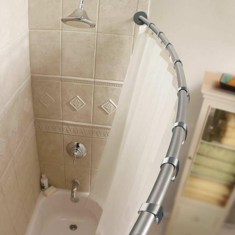 60 Curved Shower Curtain Rod