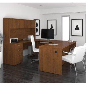 lexington ushape computer desk with hutch