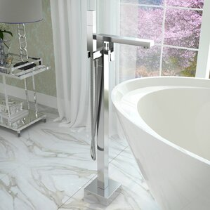 clawfoot tub faucet floor mount.  Clawfoot Bathtub Faucets You ll Love Wayfair