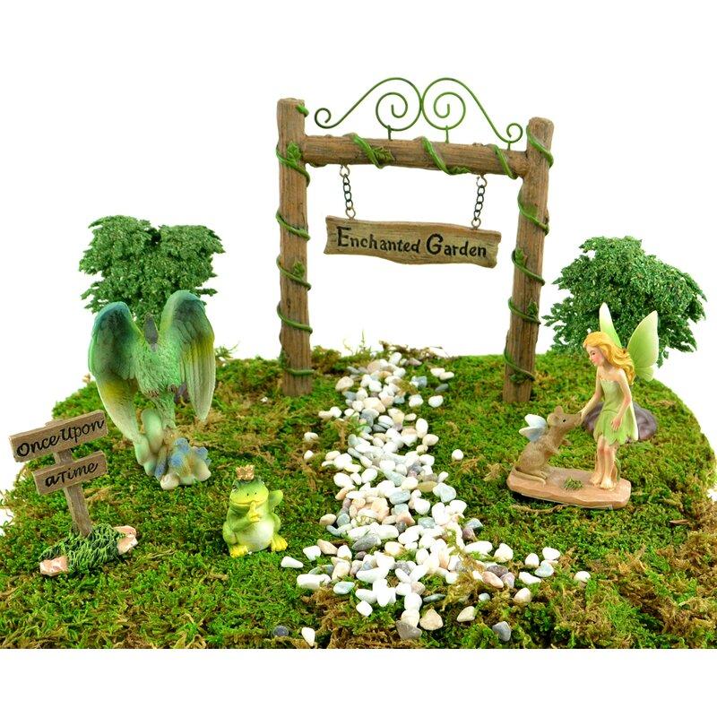 Jackeline 7 Piece Fairy Garden Set