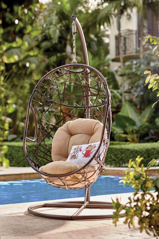Delicieux Adelia Egg Shaped Outdoor Swing Chair With Stand