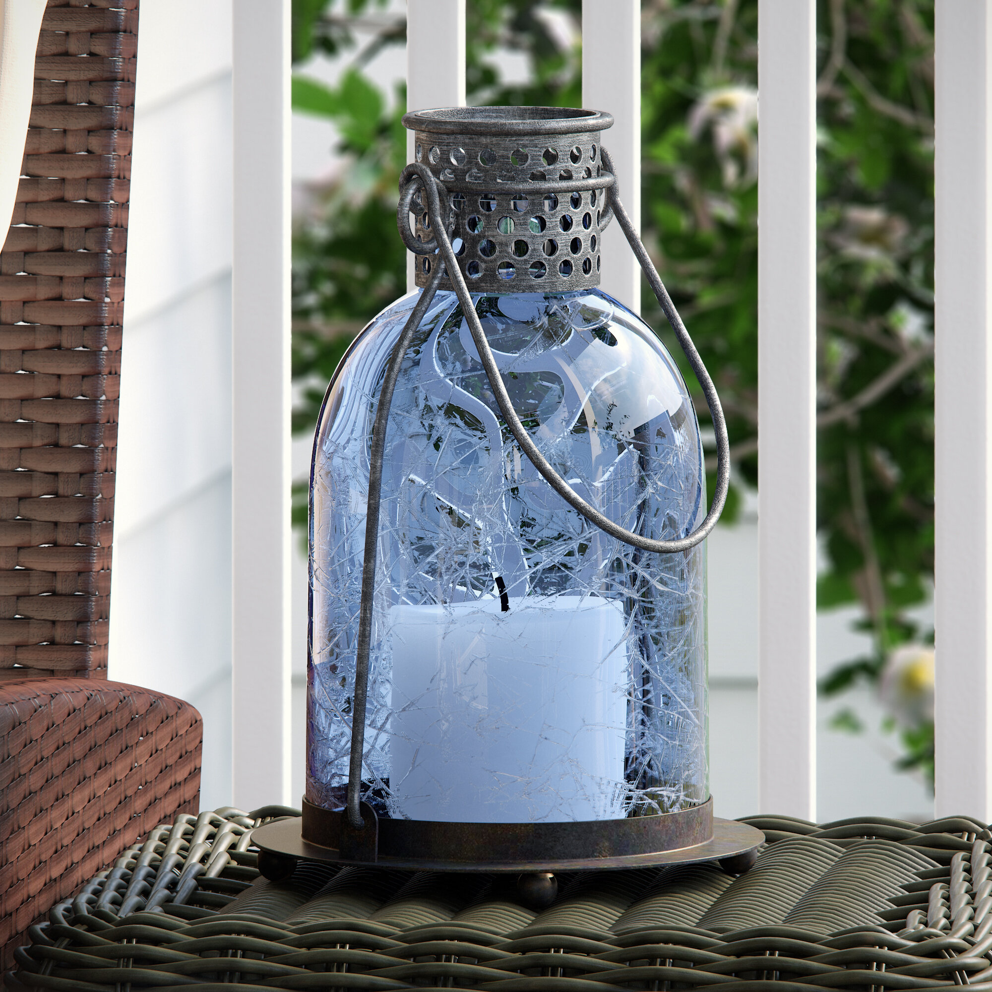 Three Posts Wallingford Glass Lantern & Reviews | Wayfair.ca
