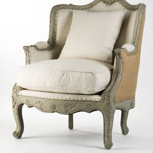 Fredrik Upholstered Wingback Chair by One Allium Way