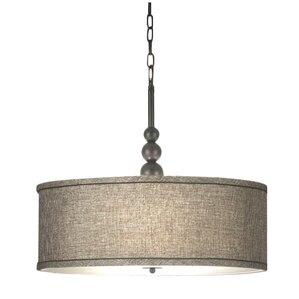 Annuziata 3-Light LED Drum Pendant  sc 1 st  AllModern & Modern Fabric Pendant Lighting | AllModern azcodes.com