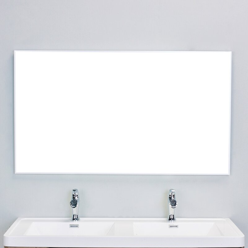 Bathroom Wall Mirror eviva sax® bathroom wall mirror & reviews | wayfair