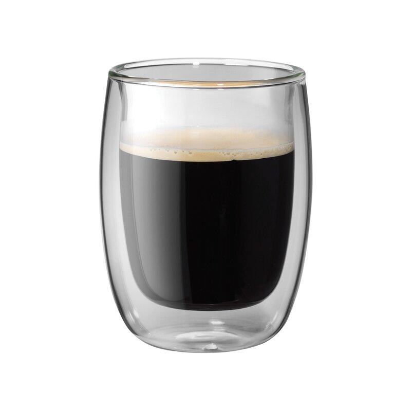 f3d93c4e6aa Zwilling JA Henckels Sorrento Double-Wall Glass Coffee Mug Set ...