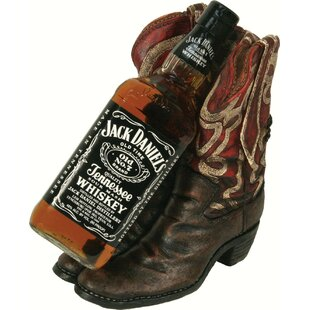 Sonoma Cowboy Boots 1 Tabletop Wine Bottle Rack