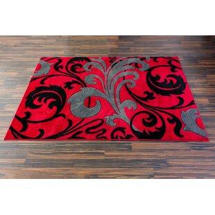 Waynesfield Fleur De Lis Red Area Rug
