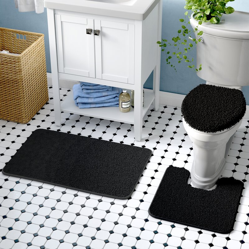 3 piece bath rug set - 3 Piece Bathroom Rug Sets
