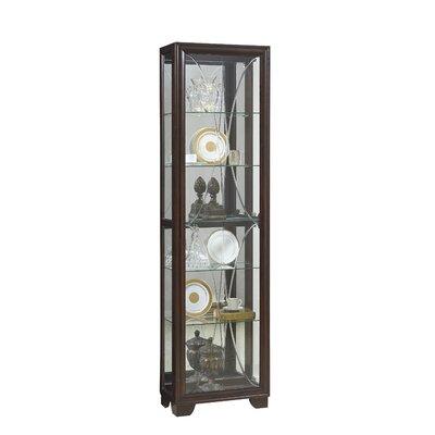 Anaya Lighted Curio Cabinet Alcott Hill