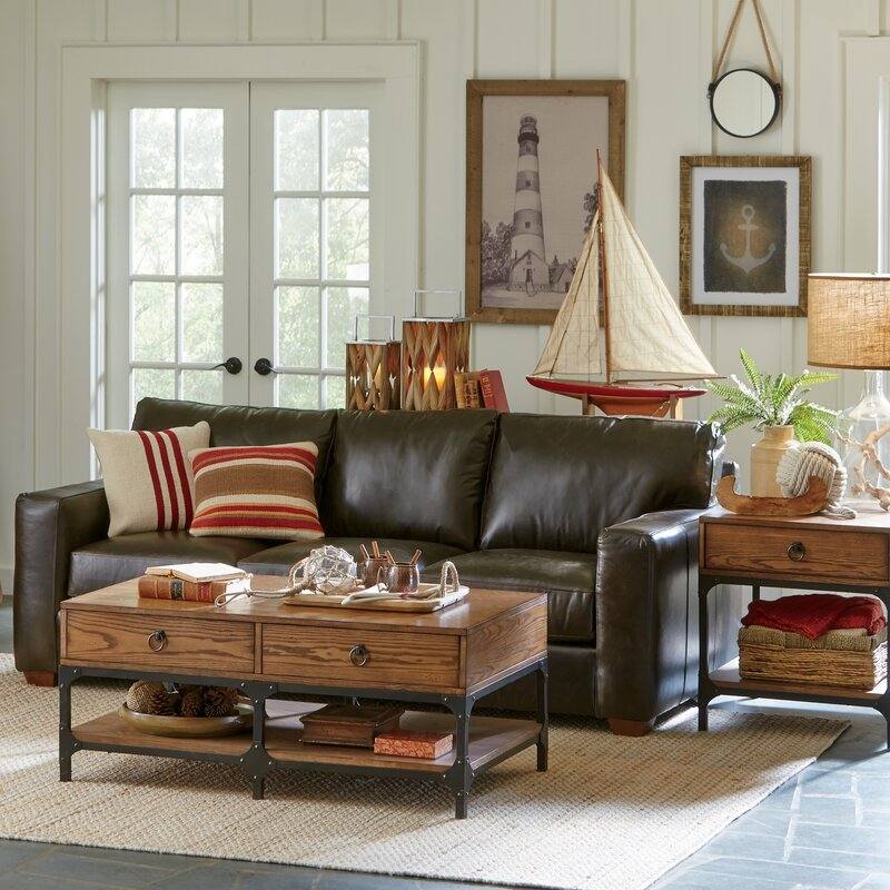 Birch Lane™ Pratt Leather Sofa & Reviews | Birch Lane